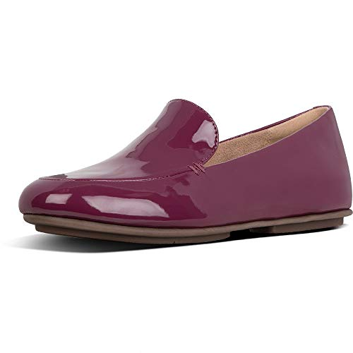 Fitflop Damen Lena Patent Loafers Slipper, Lila Lingonberry 744, 40 EU