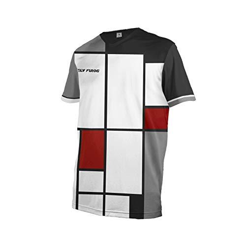 Uglyfrog Herren Downhill Jersey, MTB Männer T-Shirt, Mountainbike/Motocross Herren Langarm/Kurze Ärmel Fahrrad Trikot T Shirt Radtrikot Cycling Jersey für Radsport DEHerDownSW04