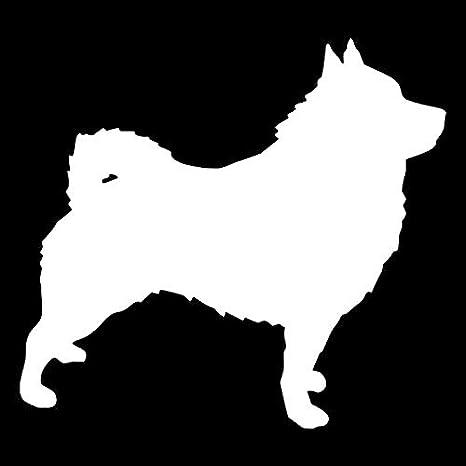 SUIFENG Autoaufkleber 10.4X9.3Cm Schipperke Hund Vinyl Aufkleber Mode Kreative Autoaufkleber Auto Styling Dekoration Schwarz//Silber