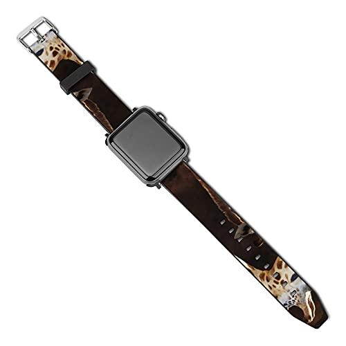 Correa de reloj Apple compatible con madre y bebé jirafa 40 mm 38 mm Correa de reloj compatible con cuero PU/Correa compatible con Apple Watch Series 5 4 3 2 1