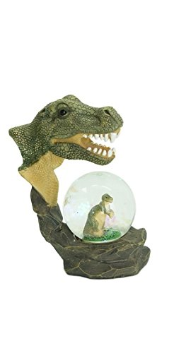 Glitzerkugel T Rex Dinosaurier Schneekugel Tier Tiere Dino Schneekugeln Tyrannosaurus