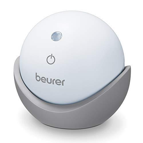 Beurer – apparaat met licht SL10 voor het slapen, projectie van licht aan het plafond, 2 instelbare ventilatietechnieken, rood of blauw licht, touch-knop, in- of uitschakelen, wit