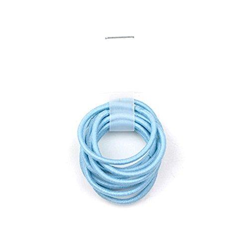 La Tartelette 2.4 cm Elastic Bands Hair Ties Children Rubber hair headbands - 20 Pcs (Light Blue)