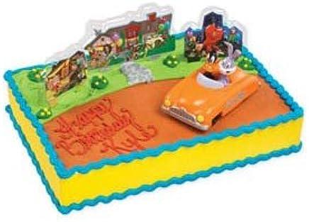 Amazon Com Looney Tunes Bugs Bunny Daffy Cake Topper Kit Kitchen