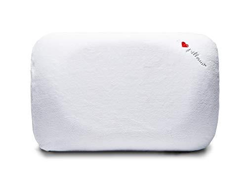 I Love Pillow Contour, Queen, White