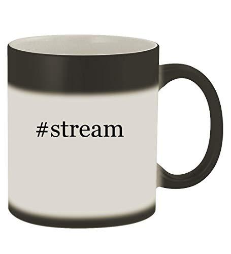 #stream - 11oz Hashtag Magic Color Changing Mug, Matte Black