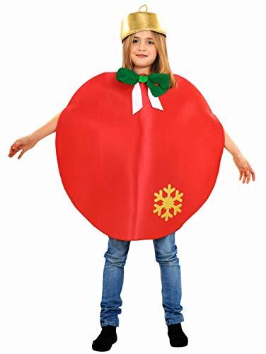 Disfraz de Bola de Navidad roja para niños en varias tallas
