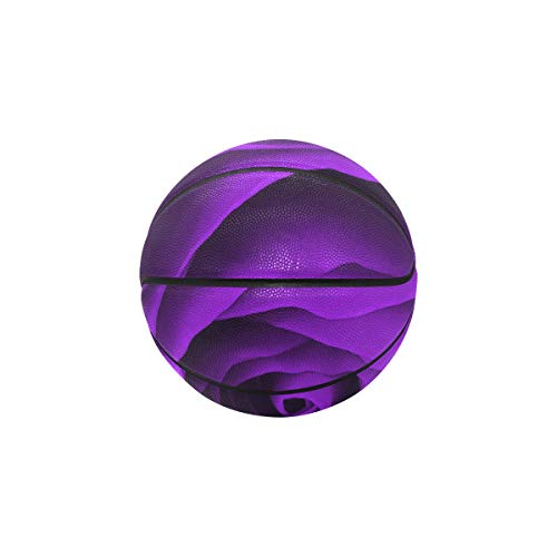 Why Should You Buy YSWPNA Basketball Outdoor Ball Elegant Purple Color Flower Girl Basketball 9.5 Inch Diameter Indooroutdoor Basketball Indoor Outdoor Game Ball with Needle Pump and Carry Bag