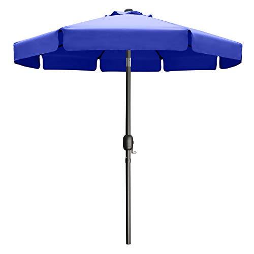 ABCCANOPY Sonnenschirm im Freien Wasserabweisende Bespannung -Gartenschirm Marktschirm,Blau