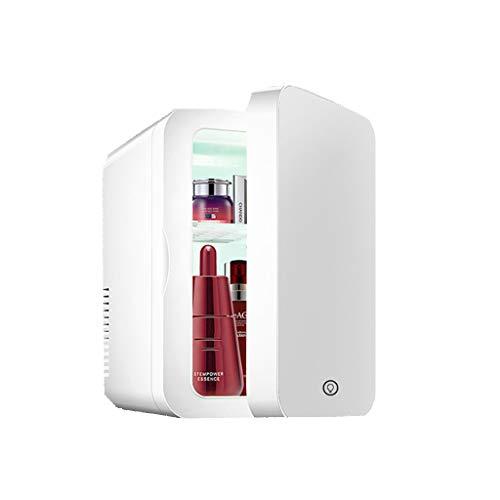 Mini Refrigerador Refrigerador de Belleza de 8 Litros, Refrigerador de Cuidado de La Piel con Espejo De Belleza 2 en 1 con Luz LED, Refrigerador Portátil, Adecuado para Dormitorio, Dormitorio, Ofici