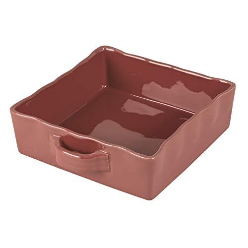 Table Passion - Plat à four carré gusto terracotta 23 x 23