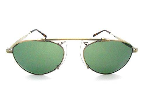 Matsuda M3036 Antique Gold Small Aviator Sunglasses