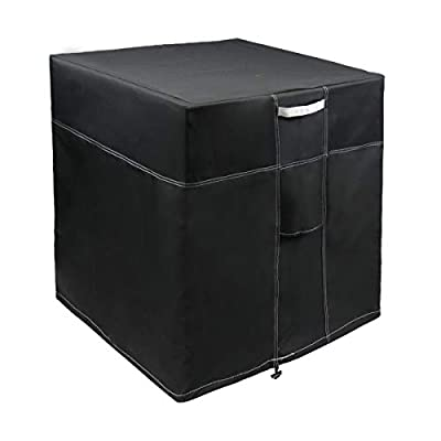 """LBG Products Outside Square Black Air Conditioner Cover 24"""" L x 24"""" D x 30"""" H for Central AC Condenser Units"""
