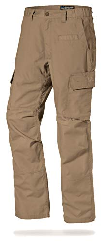LA Police Gear Mens Urban Ops Tactical Cargo Pants - Elastic WB - YKK Zipper - Boulder - 28 X 30