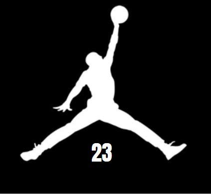 Jordan 23 Jump Man Vinyl Sticker | Cars | Walls | Laptops | White | 4.5'x4.5'
