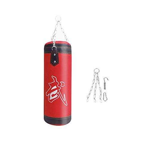 VGEBY1 Punch Sandsack, Boxhaken Kick Bag Boxtraining(80cm-Rot)