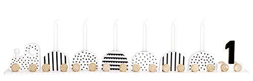 JaBaDaBaDo Geburtstagszug Holz, schwarz-weiß, 1-9 Jahre