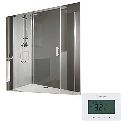 Infrarot Spiegel Heizung MD300Plus 60x60cm Infrarotheizung Spiegelheizung für Badezimmer mit Smart1.0 Thermostat
