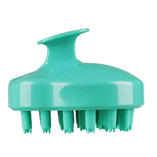 Shampooing Brosse Silicone Cualer Massager Pommeau de douche Body Brosse Croissance des cheveux Green Green, peigne