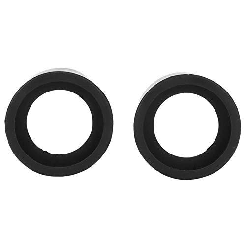 2 protectores para ocular de microscopio, diámetro, cubierta de goma para ocular, accesorios, protección para gafas, cubierta para oculares de microscopio estéreo de 32-36 mm(KP-H2 flat angle)