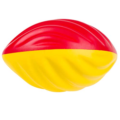 Sport-Thieme Soft-Football mit eingeprägten Spiralen | Soft Touch Mini-Football für Kinder | Perfektes Flugverhalten, Rotation, Griffigkeit | nur 225 g | 22x13 cm | Gelb-Rot | Markenqualität
