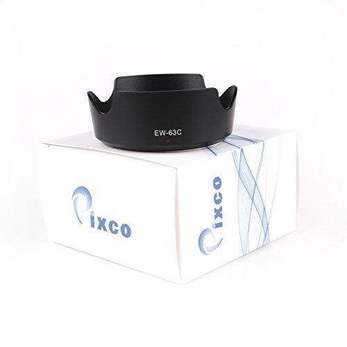 Pixco EW-63C - Parasol para objetivo Canon EF-S 18-55 mm f/3.5-5.6 IS STM Lens Protect Lens (EW-63C)