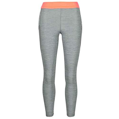 Nike Pro Tight 7/8 Femme Nvlty Pp2 - Leggings para mujer (talla XL), color gris, naranja y blanco