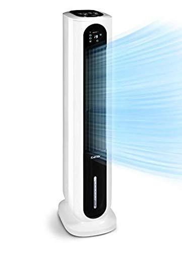 KLARSTEIN Polar Tower Smart - rafraîchisseur, humidificateur d'air ioniseur, WiFi: contrôle par appli, 85W, 3306 m³/h, 4 vitesses, 3 modes, minuterie, réservoir 7 l rempli par le haut - blanc