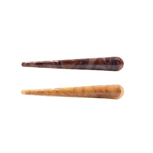 Clips de pico de pato Beaupretty Pinzas de pelo de cocodrilo Pasadores de pelo de acrílico de pato de pato para mujer Lady Lady (2 piezas)