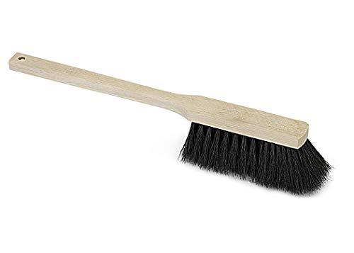 Langstiel-Handfeger Rosshaar 43cm, mit Holzgriff, Haushaltshandfeger, Handbesen, Kehrbesen, Besen, Kehrer, für feinen und groben Schmutz