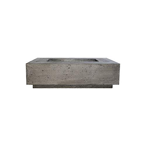 Review Prism Hardscapes Tavola 1 Concrete Gas Fire Pit (PH-405-5LP), Propane, Ultra White, 56x38-Inc...