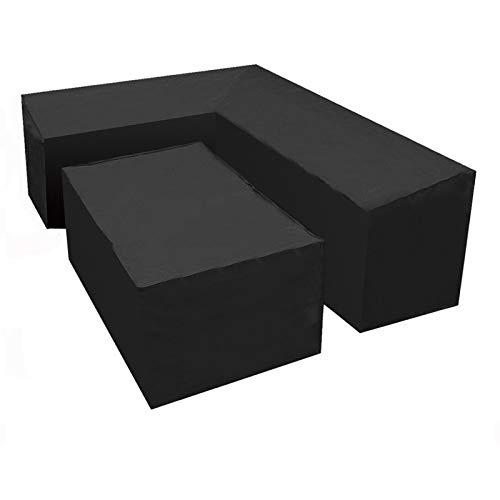 RASHION Copridivano impermeabile a forma di L, telo di copertura per mobili da giardino, protezione per esterni e patio (L forma + Square L2)