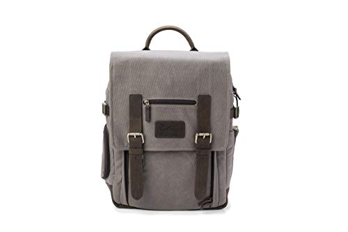 The Kenora Backpack by Portage GEN4 W/SIDE ACCESS! - Camera, Travel, Gear, Laptop Bag - Genuine Leather and Waxed Canvas