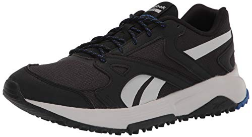 Reebok mens Lavante Terrain Running Shoe, Core Black/Court Blue/Pure Grey, 12 US