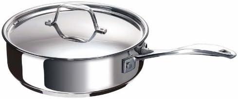 Bekaline 12065264 Chef Sauteuse + Couvercle en acier inoxydable 24 cm