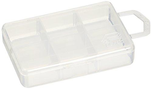 Plano Micro 6 Compartment Tackle Storage Box, Premium Tackle Storage, Clear, One Size (105000)