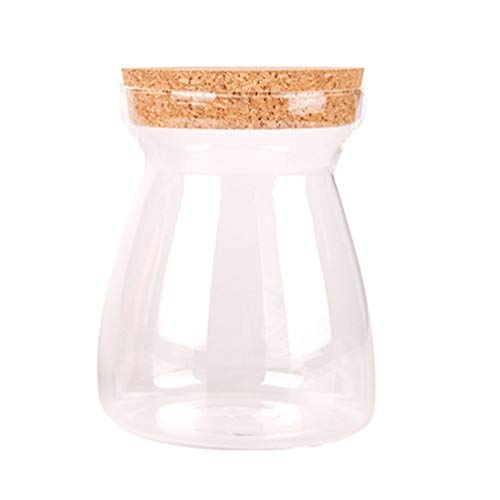 UPKOCH Glaskanister mit Korkdeckel Vorratsgläser Borosilikatglas Dosenverschluss Flasche (Korkdeckel) t-förmig 1pc 1000ml