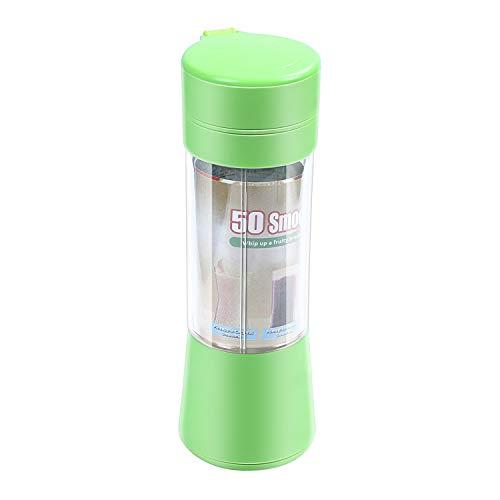 Haudang USB Saftpresse Schale, beweglicher Saft-Mischer, Haushalt Frucht Mischer - sechs Blaetter, 400ml Frucht mischende Maschine mit USB Ladegeraet Kabel