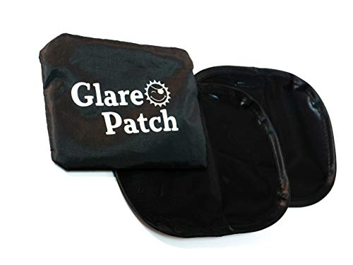 Glare Patch - The Miniature Static Cling car Window Sun Glare Blocker for Driver. Sun Shade for Infant and Baby car Seats, Baby Side Window, Driver Shade, Glare Visor, Driver Safety. Pack of 2