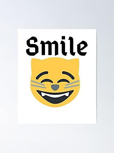 Situen Póster de la sonrisa: un arte imprimible, ideal para decoración de pared, decoración de la habitación para compañeros de clase, colegas y mejores.