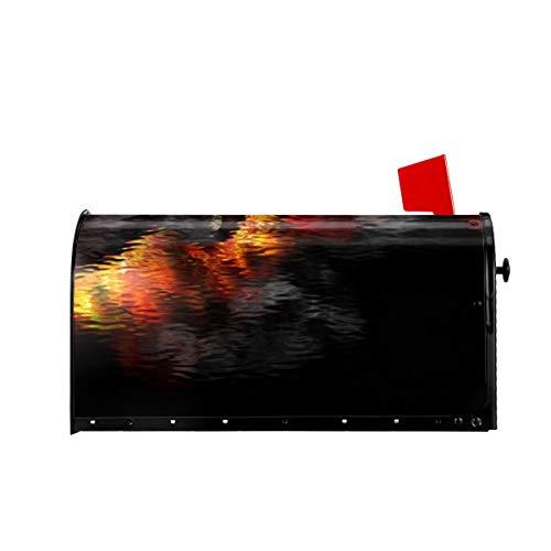 Sunny R Willkommen Mailbox Abdeckungen Brennende Gitarre Magnetisch Eingewickelt Briefkasten Briefkastenabdeckung für Garden Yard Decor 21x18 Zoll