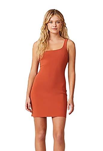 Bec & Bridge Ruby One Shoulder Mini Dress in Rust (2)
