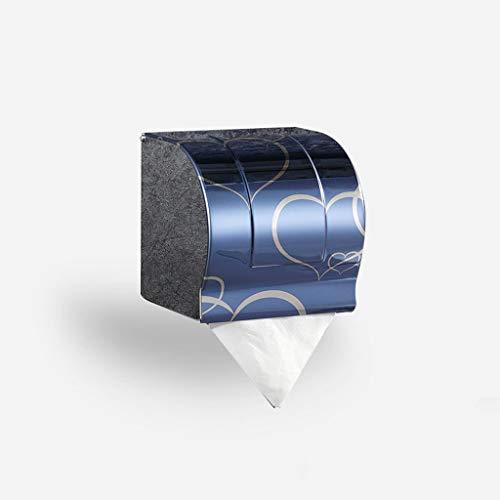 SHUMEISHOUT Baño a Prueba de Agua Caja de Tejido de Acero Inoxidable Bandeja de Inodoro Tenedor de Papel higiénico