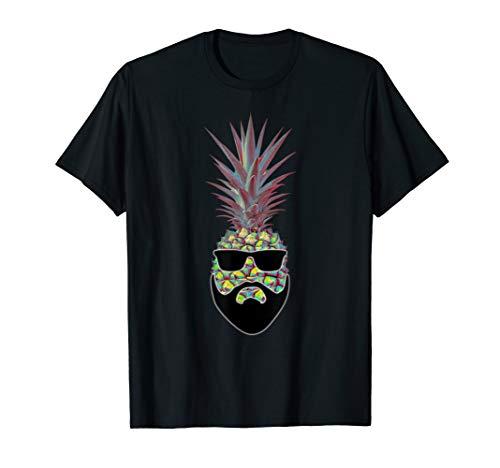 The Bad Ass Pineapple Shirt - Funny cool beard Pineapple