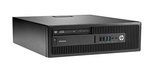HP EliteDesk 800 G2 SFF Intel Quad Core i5 256GB SSD Festplatte 8GB Speicher Win 10 Pro MAR DVD Brenner Desktop Computer Mini PC (Zertifiziert und Generalüberholt)