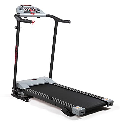 JAXPETY Folding Treadmill 2.0HP Electric Motorized Running Machine w LCD Display, Drink Holder for Home Gym Exercise Walking Fitness, Grey
