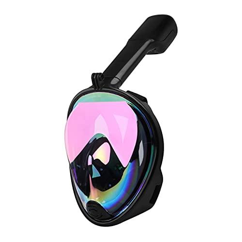 LANGTAOMY Gafas de Natación Profesión para Adultos Snorkeling Cara Completa Mascarilla de natación Silica Gel Platamiento Anti-Niebla Máscaras de Buceo Scuba Nail Gafas Equipos de Buceo Gafas