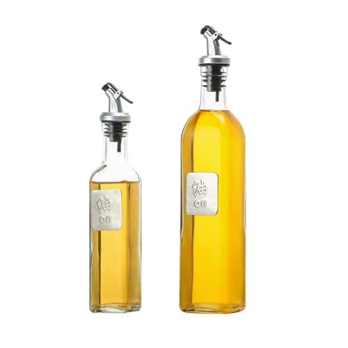 Pulverizador Aceite, Cocina Dispensador Aceitero y Vinagre 250ml 2 Pcs, Aceitera Spray Boquilla Inoxidable Botella de Vidrio para Cocinar, Ensalada, Hornear, Pan, BBQ