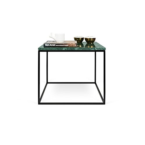 Paris Prix - Temahome - Table D'appoint Gleam 50cm Marbre Vert & Métal Noir