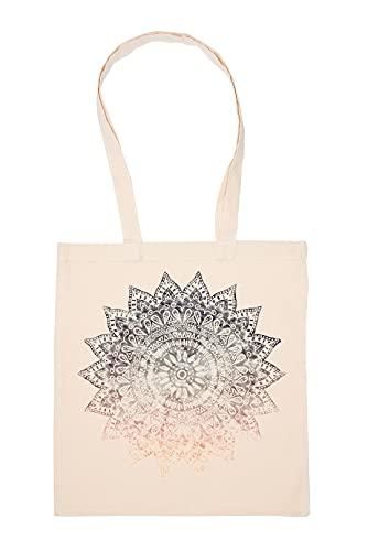 Gunmant bohemio Mandala Bolsa De Compras Beige Durable Reutilizable Eco Friendly Reusable Shopping Bag